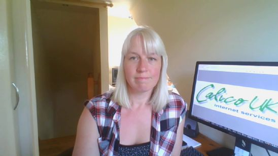 Kirsty Pryer, Calico's MD, works from home during the Coronavirus lockdown